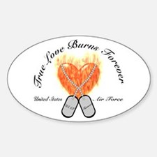 True Love Air Force Fiancee Oval Decal