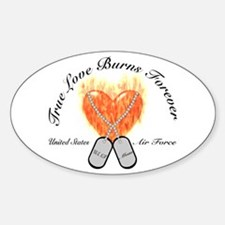 True Love Air Force Mom Oval Decal