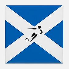 Team Soccer Scotland Tile Coaster