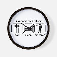 Eat Sleep Air Force - Support Bro Wall Clock