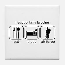 Eat Sleep Air Force - Support Bro Tile Coaster