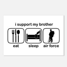 Eat Sleep Air Force - Support Bro Postcards (Packa