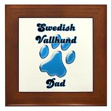 Vallhund Dad3 Framed Tile