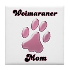Weimaraner Mom3 Tile Coaster