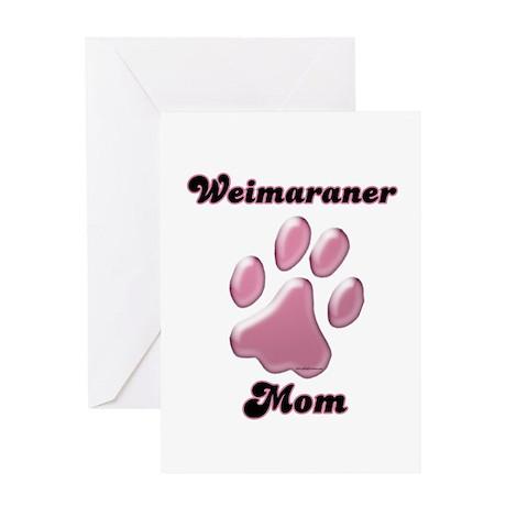 Weimaraner Mom3 Greeting Card
