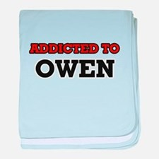 Addicted to Owen baby blanket