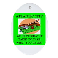 atlantic city gifts t-shirts Oval Ornament
