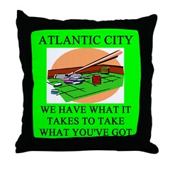 atlantic city gifts t-shirts Throw Pillow