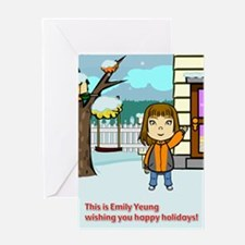 Happy Holidays from Emily Yeung Greeting Card