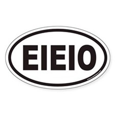 EIEIO Euro Oval Stickers