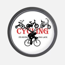 Cycling Cyclists Wall Clock