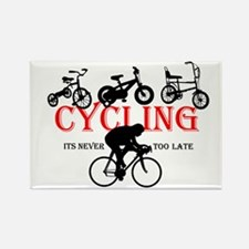 Cycling Cyclists Rectangle Magnet