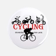 """Cycling Cyclists 3.5"""" Button"""
