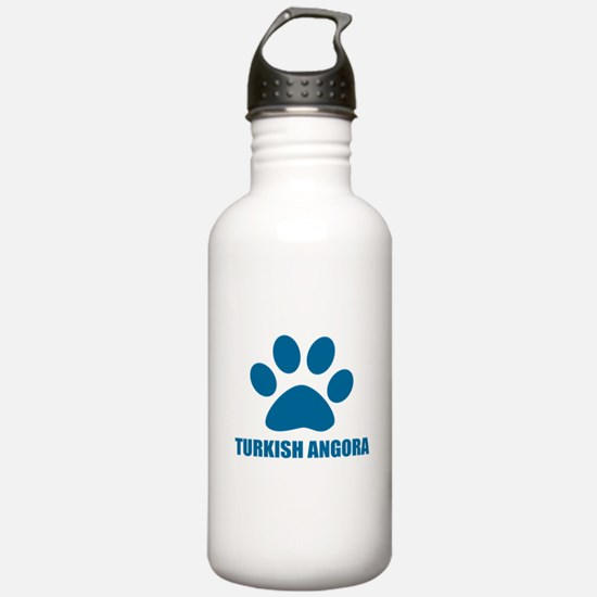 Turkish Angora Cat Des Sports Water Bottle