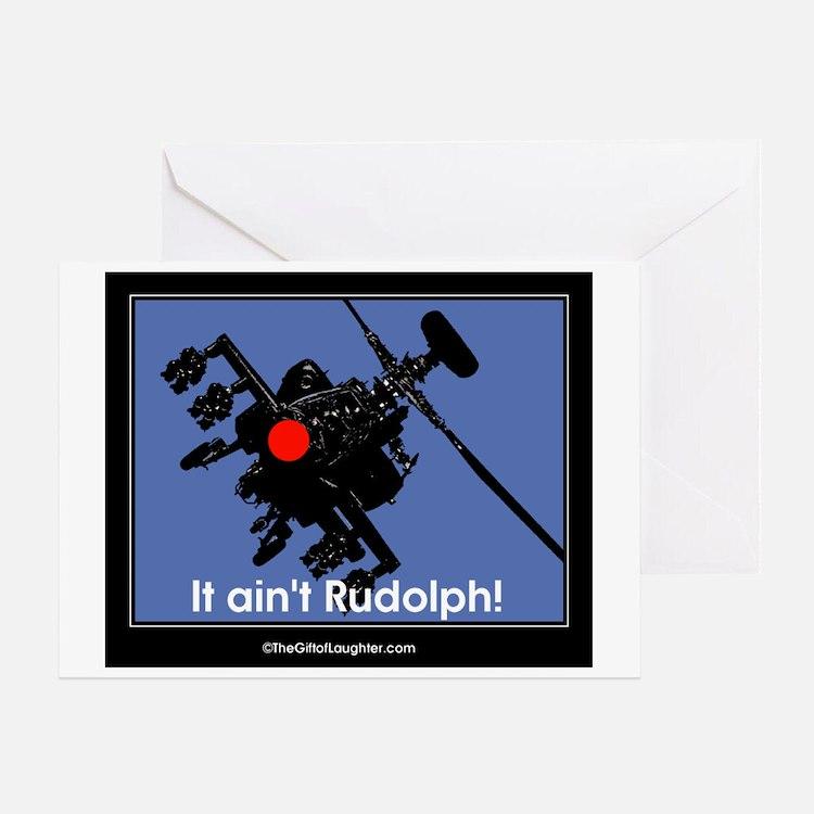 apache black rudolph II Greeting Cards