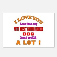 I love you less than my P Postcards (Package of 8)
