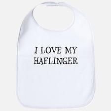 I Love My Haflinger Bib
