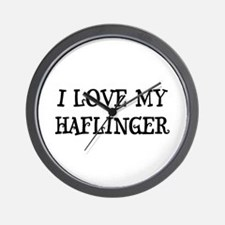 I Love My Haflinger Wall Clock