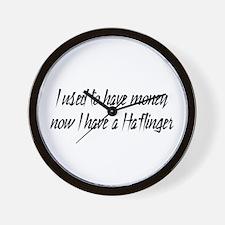 Money or Haflinger Wall Clock