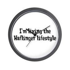 the Haflinger Lifestyle Wall Clock