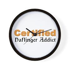 Certified Haflinger Addict Wall Clock
