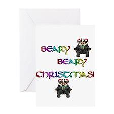 BEARY BEARY CHRISTMAS W/BEARS Greeting Card