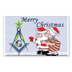 Mr. & Mrs. Claus's Masonic Christmas Sticker (Rec