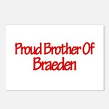 Proud Brother of Braeden Postcards (Package of 8)