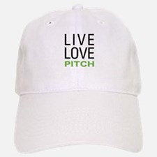 Live Love Pitch Baseball Baseball Cap