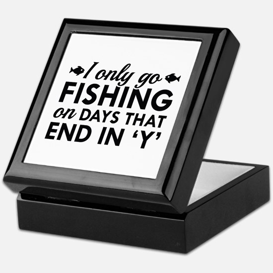 I Only Go Fishing Keepsake Box