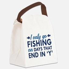 I Only Go Fishing Canvas Lunch Bag
