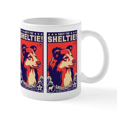 Obey the SHELTIE! Propaganda Coffee Mug