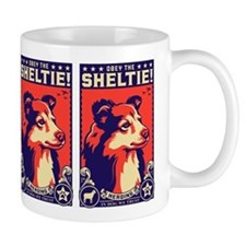 Obey the SHELTIE! Propaganda Coffee Mug