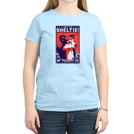 Obey the SHELTIE! Women's Light T-Shirt