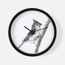 Unique Tufted titmouse Wall Clock