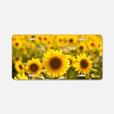 Cute Flower Aluminum License Plate