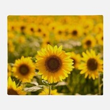 Cute Sunflower Throw Blanket
