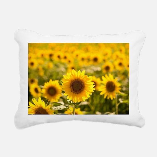 Funny Sunflower Rectangular Canvas Pillow