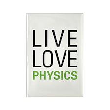 Live Love Physics Rectangle Magnet