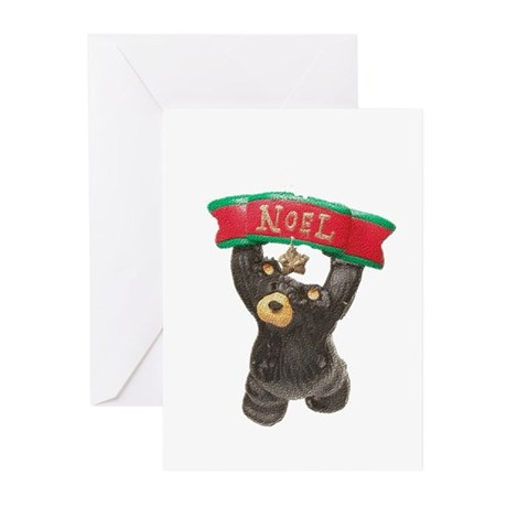 NOEL BEAR WITH BANNER Greeting Cards (Pk of 10)