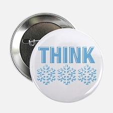 "Think Snow Blue 2.25"" Button"