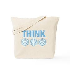 Think Snow Blue Tote Bag