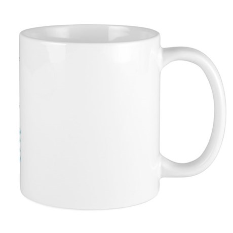 Think Snow Blue Mug