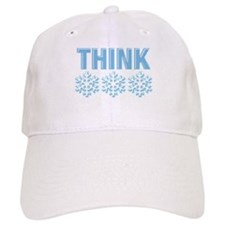 Think Snow Blue Baseball Cap
