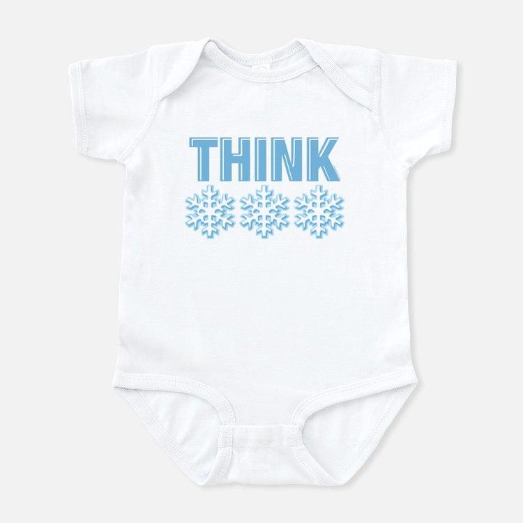 Think Snow Blue Infant Bodysuit