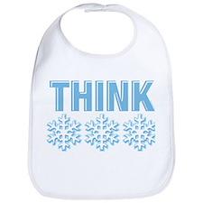 Think Snow Blue Bib