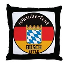 Busch Oktoberfest Throw Pillow