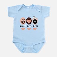 Peace Love Bowl Bowling Infant Bodysuit