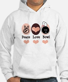 Peace Love Bowl Bowling Hoodie
