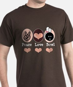 Peace Love Bowl Bowling T-Shirt